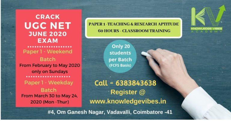 UGC NET June 2020 Exam -P1,weekday weekend Final