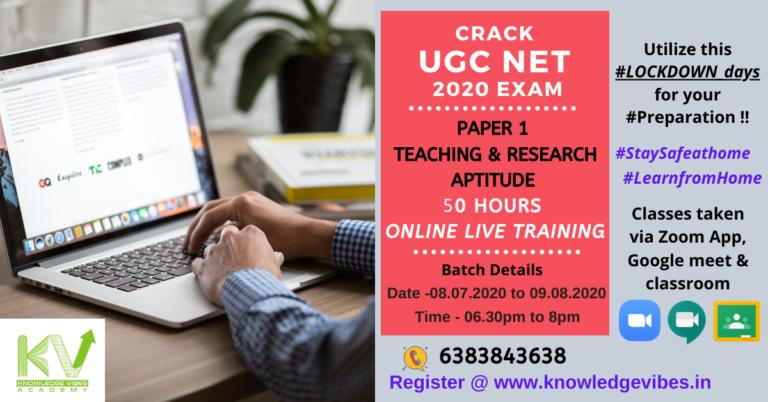 Paper 1_ pamplet - UGC NET 2020 Exam - PAPER (1)